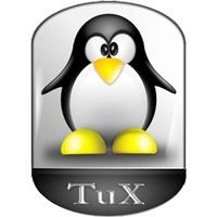 Notebook-Sticker - Tux New Style