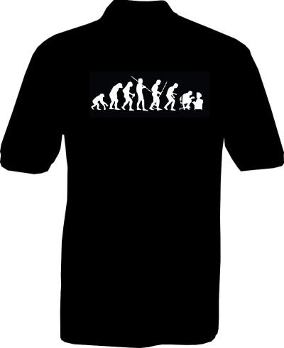 Polo-Shirt - human evolution - Rückseite