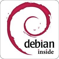 Notebook-Sticker - Debian inside