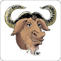 Notebook-Sticker - GNU