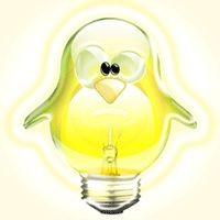 Notebook-Sticker - Tux Lampe
