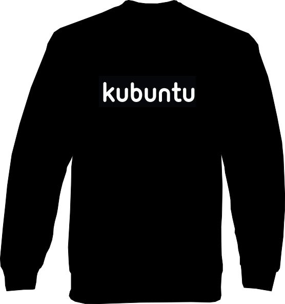 Sweat-Shirt - kubuntu Schrift