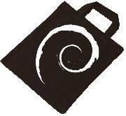 Baumwolltasche - Debian Swirl