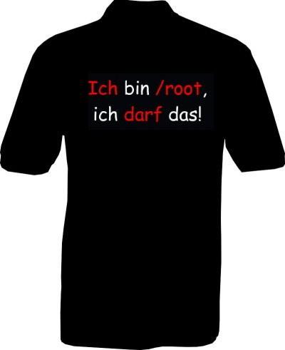 Polo-Shirt - Ich bin /root - Rückseite