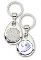 Schlüsselanhänger - Metall - Gentoo - Einkaufswagen-Chip