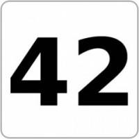 Notebook-Sticker - 42 - Die Antwort