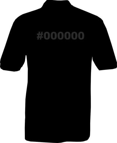 Polo-Shirt - #000000 - Rückseite
