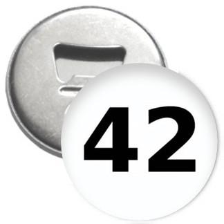 Flaschenöffner + Magnet - 42 - Die Antwort