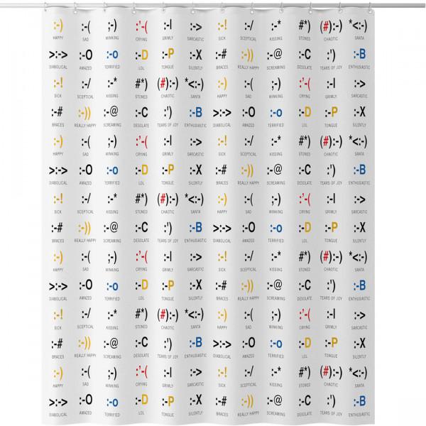 Duschvorhang Emoticons