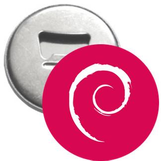 Flaschenöffner + Magnet - Debian Logo