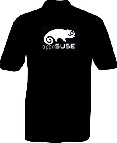Polo-Shirt - openSUSE - Rückseite