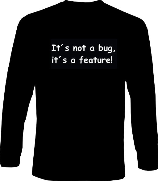 Langarm-Shirt - its not a bug