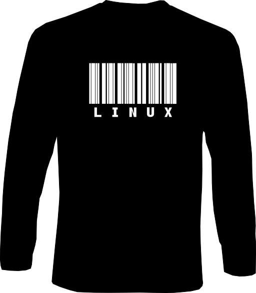 Langarm-Shirt - LINUX Strichcode
