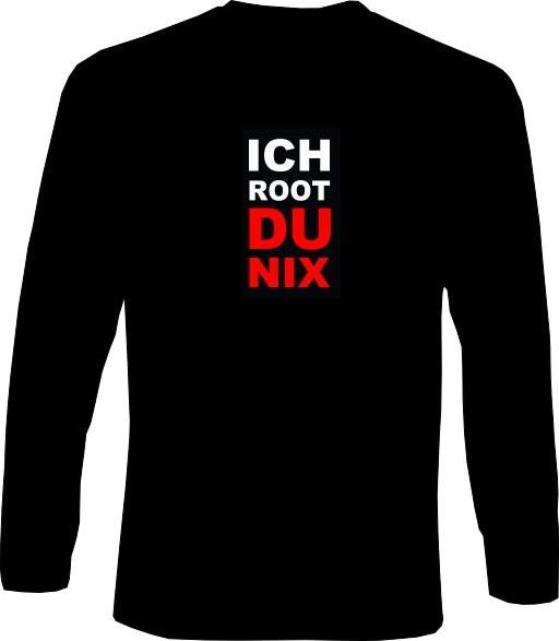Langarm-Shirt - Ich root du nix