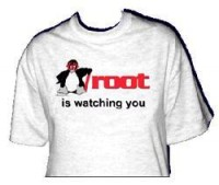 T-Shirt - Root is watching you