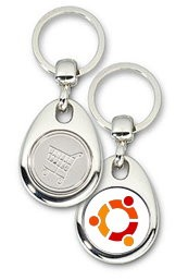 Schlüsselanhänger - Metall - ubuntu - Einkaufswagen-Chip