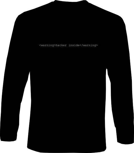 Langarm-Shirt - hacker inside