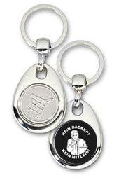 Schlüsselanhänger - Metall - Kein Backup - Kein Mitleid - Einkaufswagen-Chip