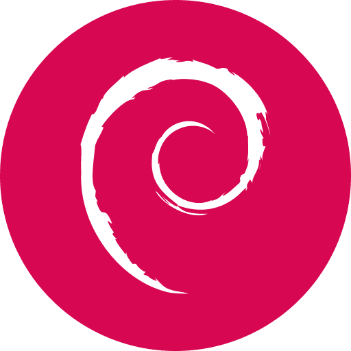 Notebook-Sticker - Debian Logo - rund