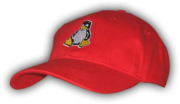 Baseballcap Tux - rot